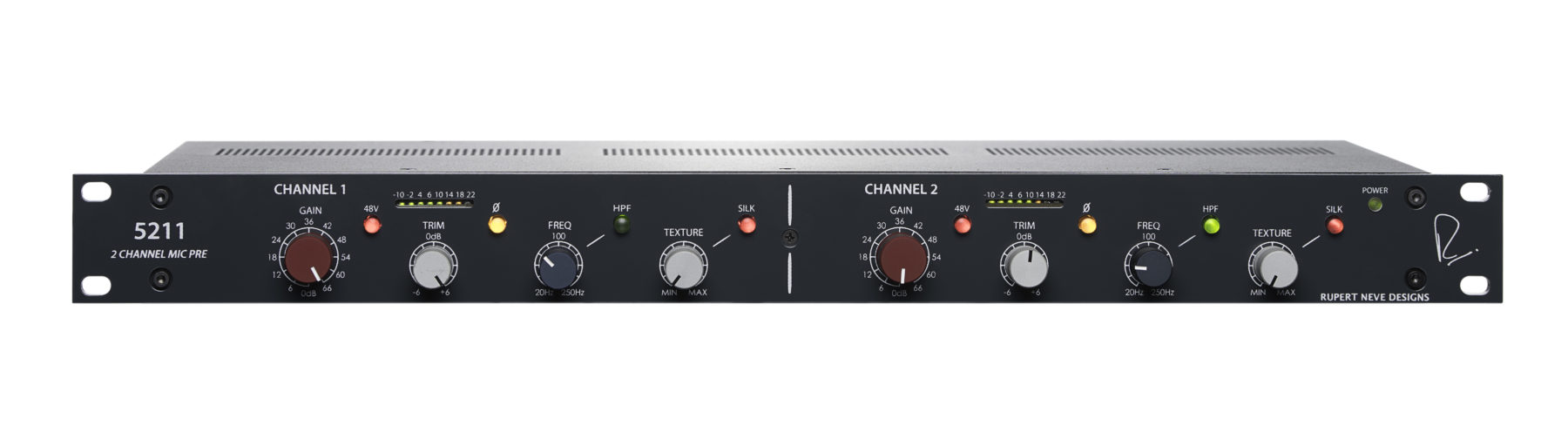 Rupert Neve Designs 5211 2 Channel Mic Preamp Preamplifier Circuit Low Noise Microphone
